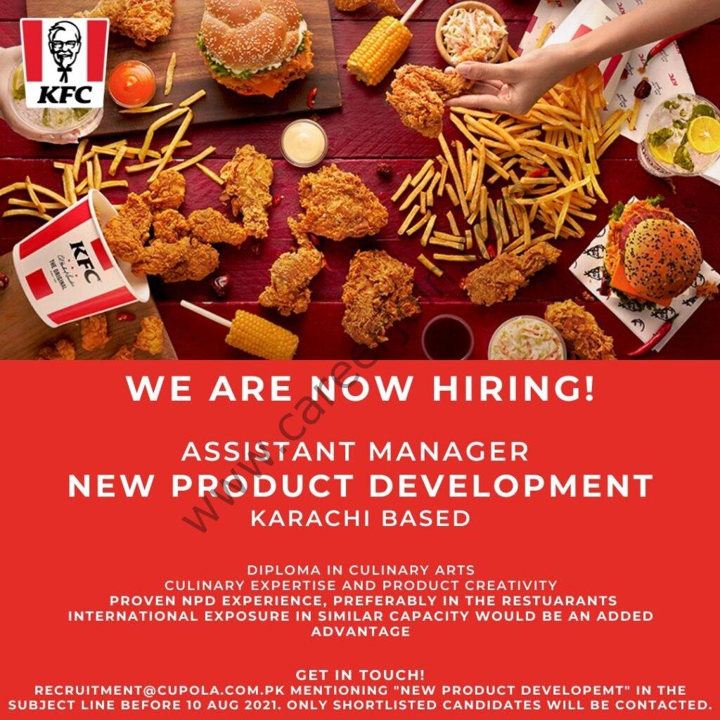 KFC Pakistan Jobs Assistant Manager