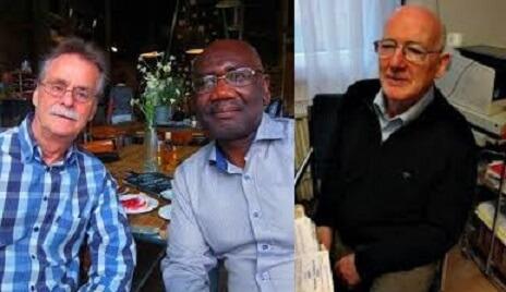 The late, Dutch scientist and micro-surgeon -Johan van Dongen, Journalist, and writer Joel Savage in Belgium, and the German medical doctor, Wolff Geisler.