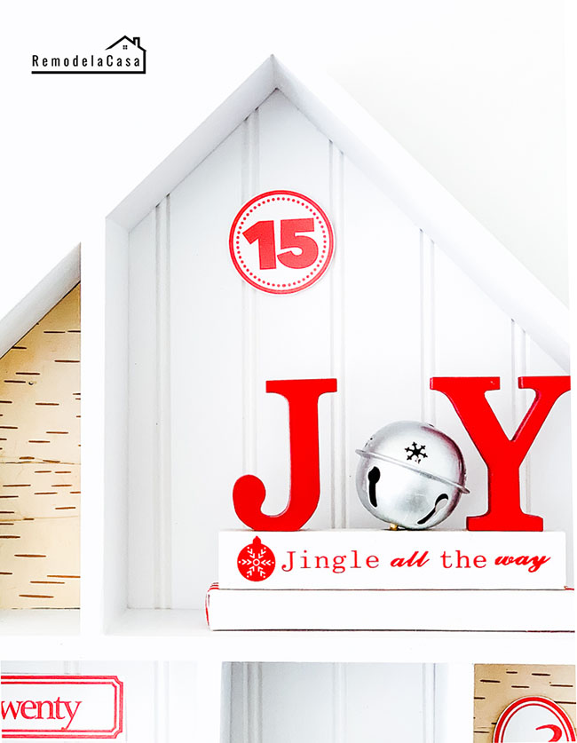 White and red house advent calendar