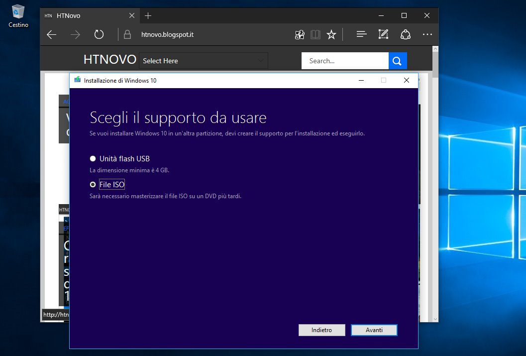 Come installare Windows 10 tramite ISO senza supporto esterno (DVD o PenDrive) 3