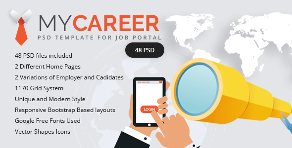 My Career – Clean & Unique PSD Template