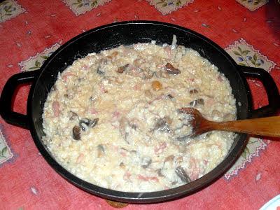 Arroz cremoso, risotto con setas variadas