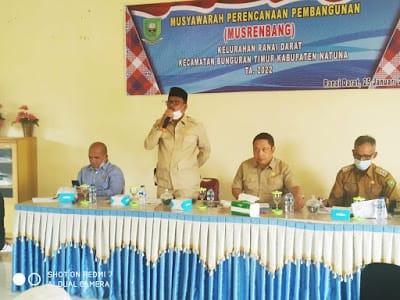 Hadiri Musrenbang Kelurahan Ranai Darat, Ini Yang Disampaikan Ketua DPRD Natuna