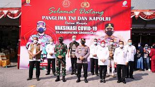 Panglima TNI Kapolri Dan Kepala BNPB Mengecek Vaksinasi diGrobogan