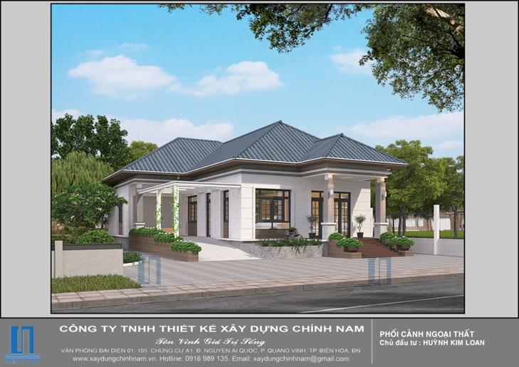 thiết kế xây nhà trọn gói nhà chị Loan ở Tây Ninh