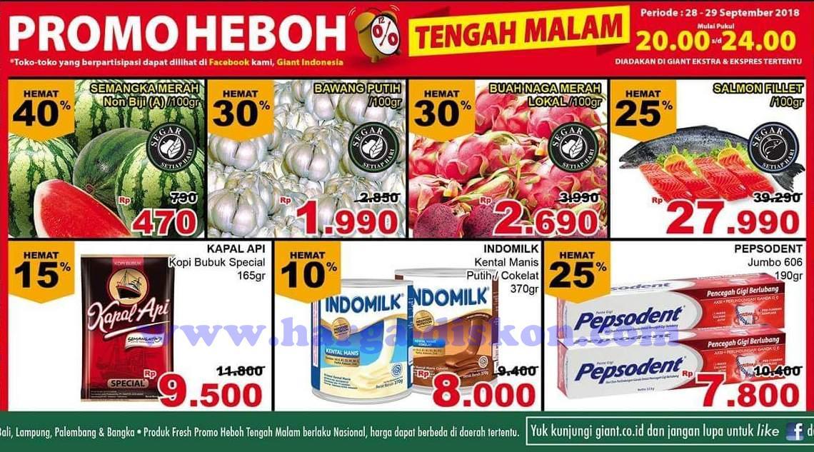 Katalog Giant Promo Heboh Tengah Malam Periode 28 29 September 2018 News And Talking