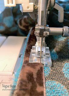 Using PFaff knit-edge sewing machine foot