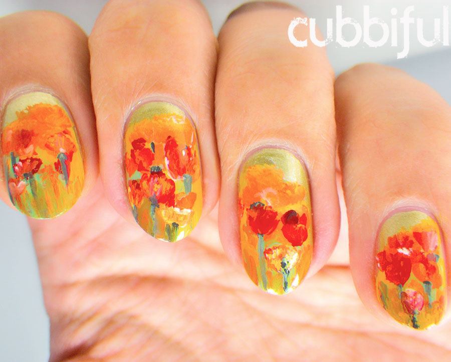Floral Tulip Nails