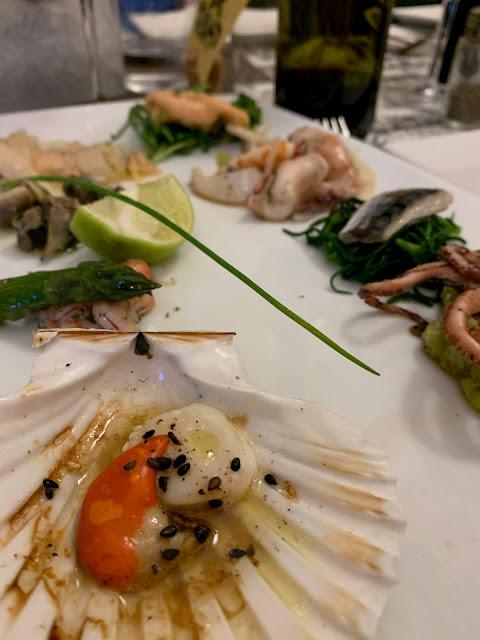 seafood platter, Al Timon, Venice