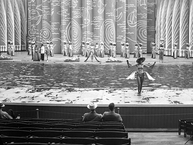 the 'Aquacade Show' for men at the 1939 New York World's Fair, a photograph