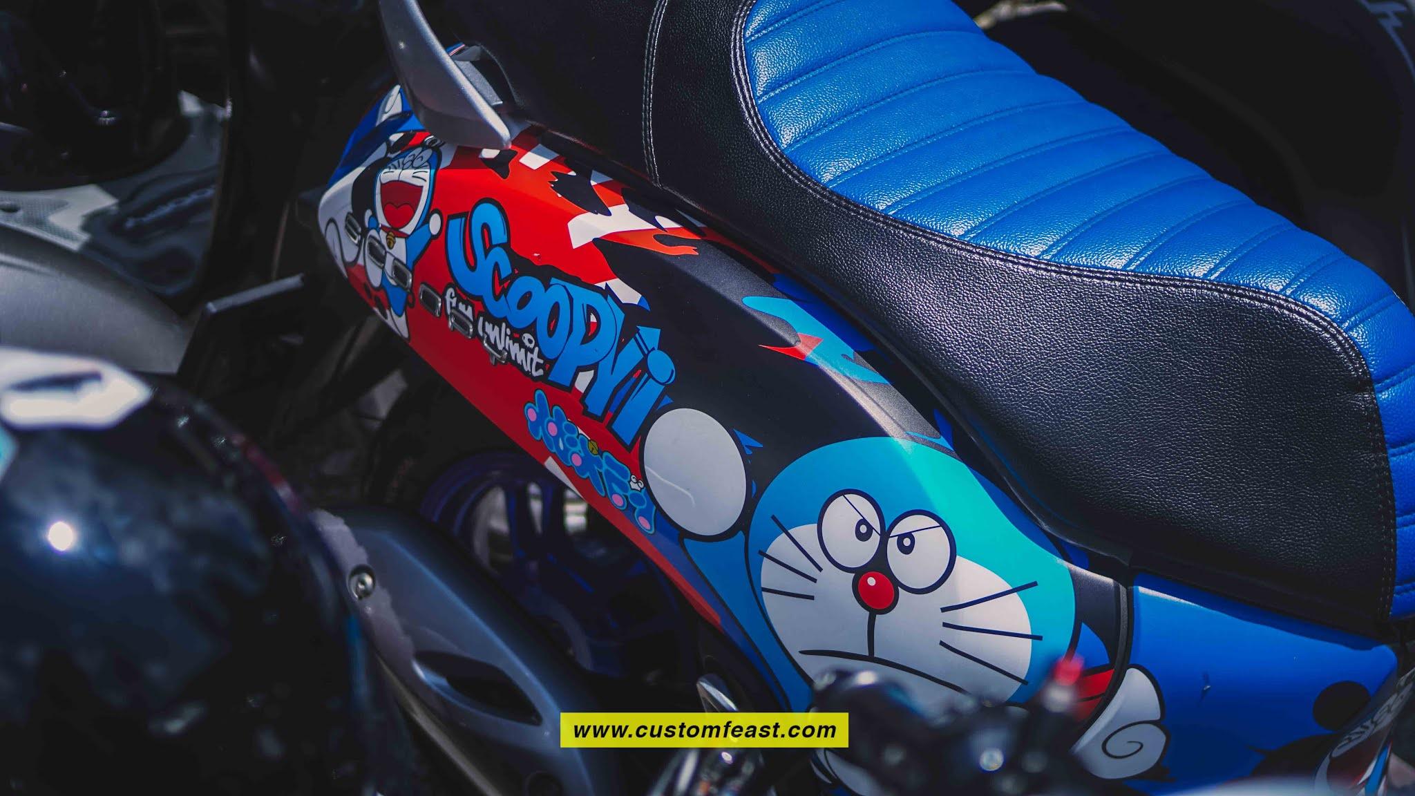 Modifikasi Scoopy 2020 - Sticker Scoopy Doraemon