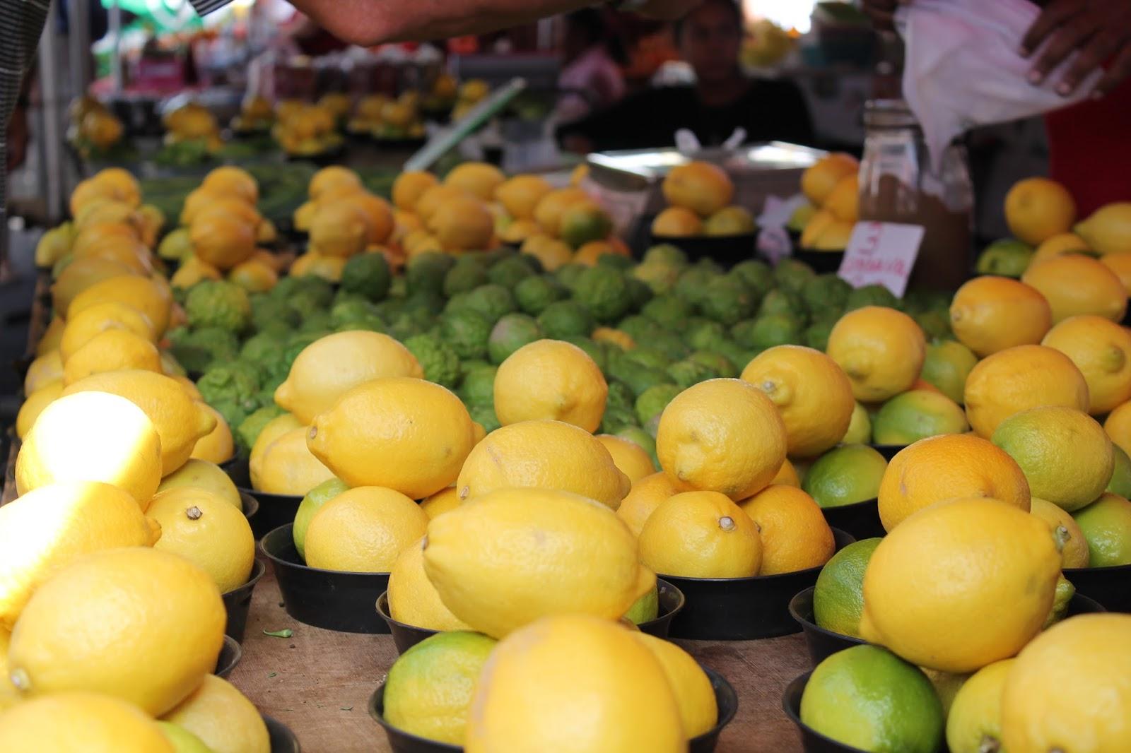 ile de la réunion marché citrons