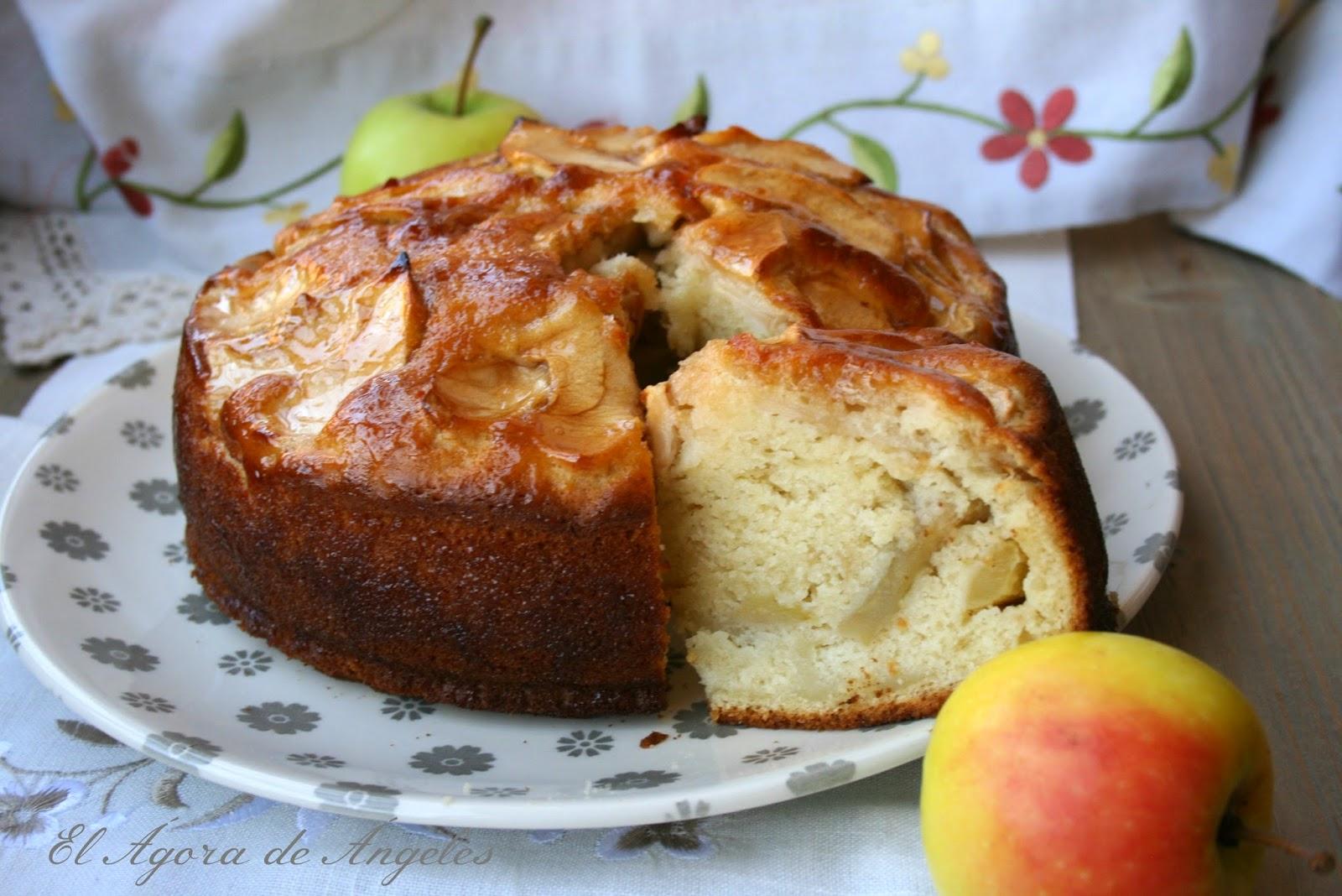Bizcocho de manzana sin grasa