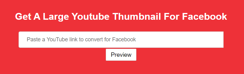 Create Large YouTube Thumbnail for Facebook