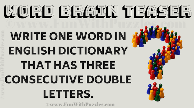 Write one word in english dictionary that has three consecutive double letters.