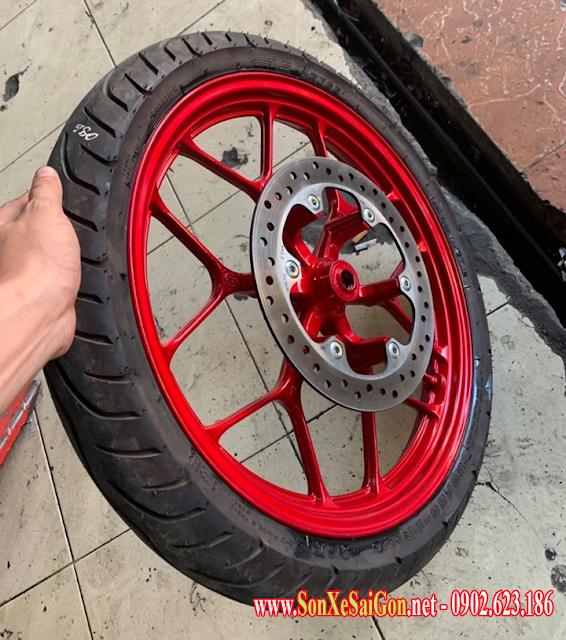 Sơn mâm xe máy Honda Winner 150 màu đỏ candy cực đẹp