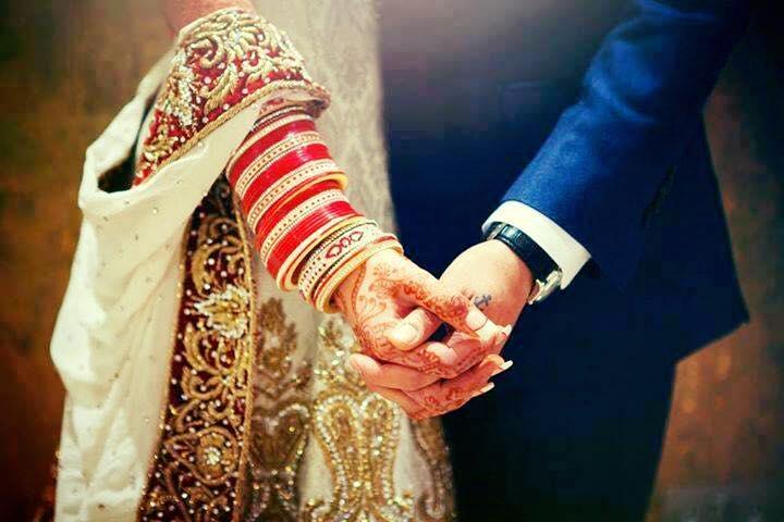 punjabi couple wedding