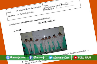 Soal UH / PH Kelas 2 Tema 6 Kurikulum 2013 Revisi Tahun 2019