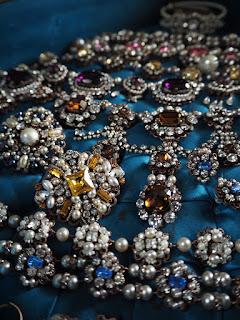 Vintage style rhinestone jewellery