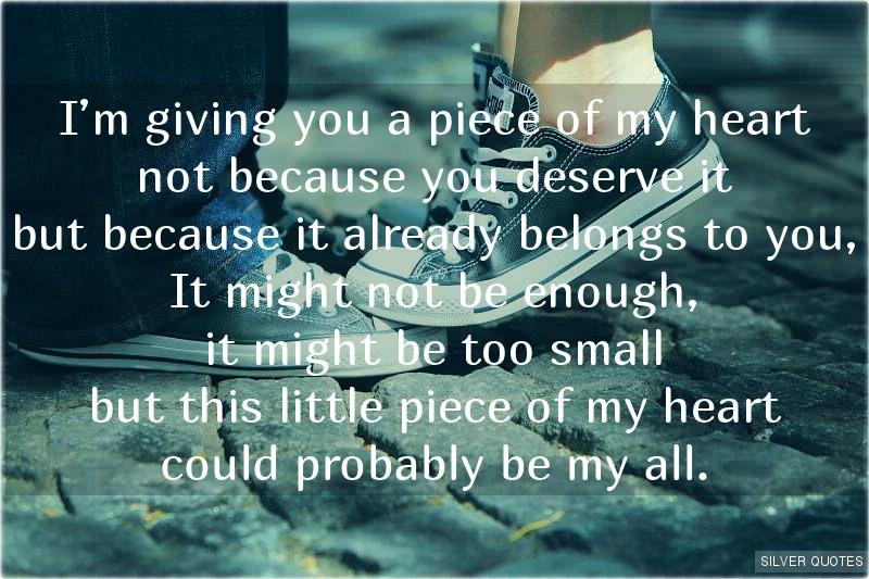 My Heart Belongs To YouMy Heart Belongs To You Poem