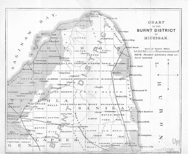 1881 Michigan Fire Burt District