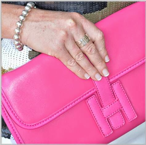Spurr Hot Pink Clutch Tiffany & Co Cut Out Ring Tiffany & Co Bead Bracelet