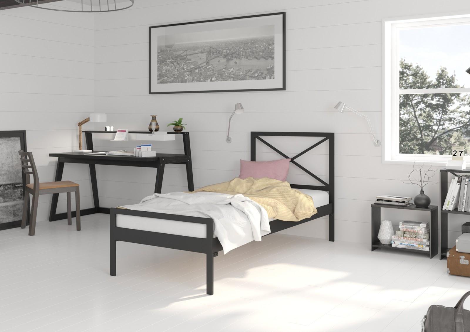 Łóżko metalowe wzór 38 (80-100 cm)