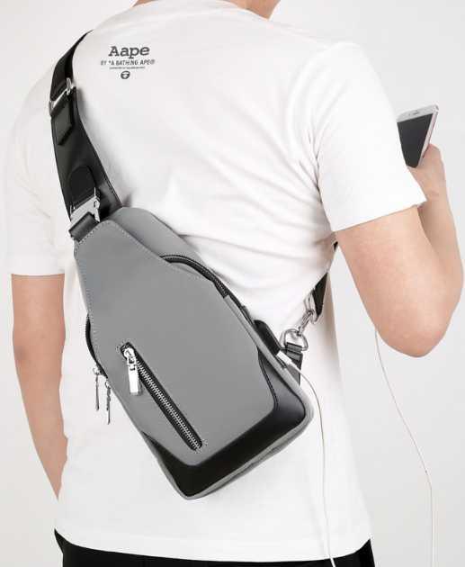 Men Chest Bags Casual shoulder bag Multifunction Handbag messenger bags school bag