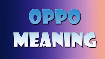 oppo meaning in hindi