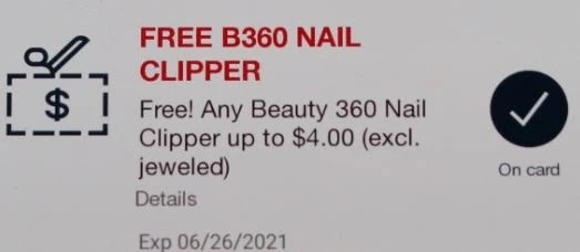 FREE Beauty 360 Nail Clipper (up to $4 value) CVS APP ONLY MFR Digital Coupon (go to CVS App)(freebie or offer may vary by shopper)