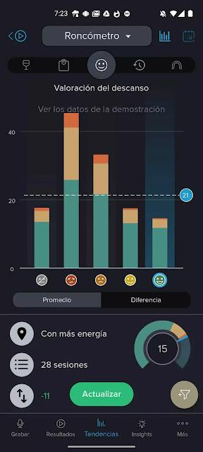 باستخدام هذا التطبيق ، يمكنك معرفة ما إذا كنت تشخر أثناء النوم ، ومدى ارتفاع صوتك وتسجيل صوته