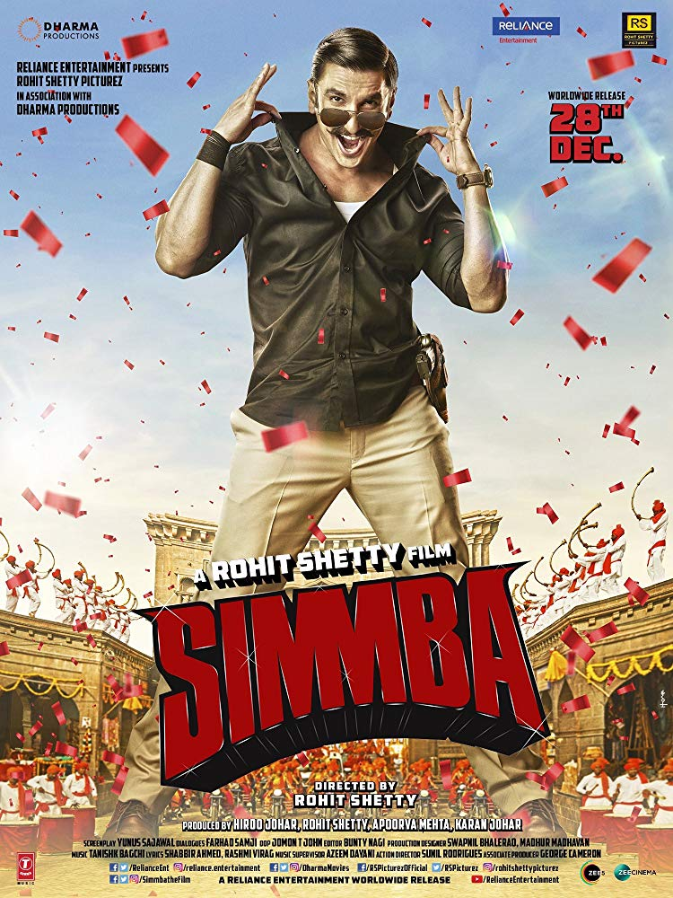 Simmba (2018) Hindi New 720p DVDScr x264 700MB [Cleared]