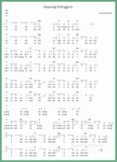 not angka lagu dayuang palinggam lagu daerah sumatera barat
