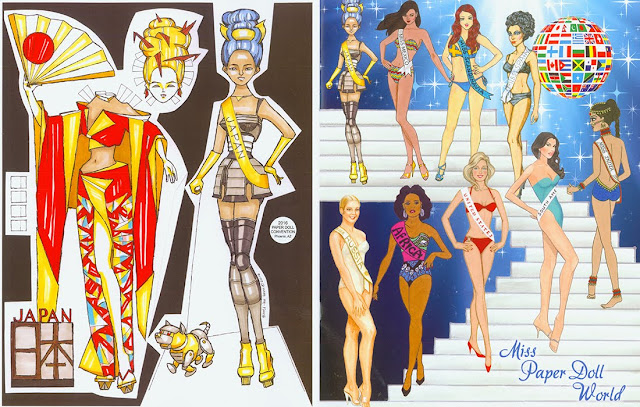 Miss World Paper Doll Souvenir