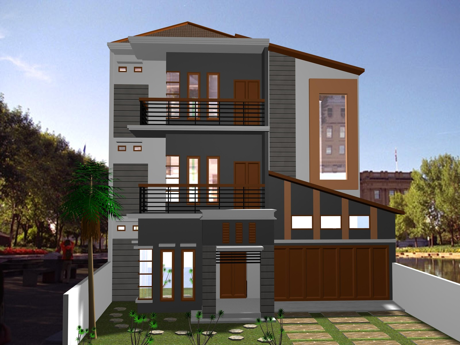 Gambar Desain Rumah Minimalis 3 Lantai 2017
