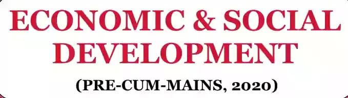 MK Yadav Economics and Social Development (ESD) – 2020