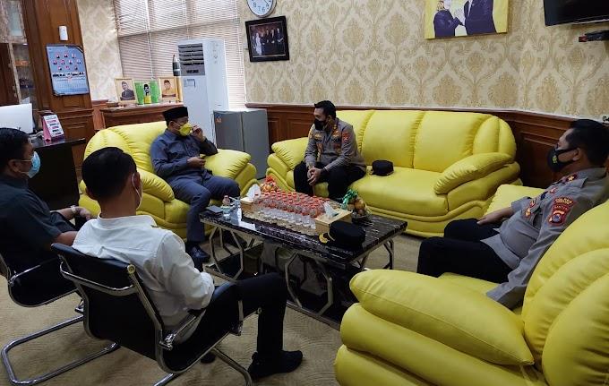 Pererat Silaturahmi, Kapolres Serang Kunjungi Kantor DPRD Kabupaten Serang
