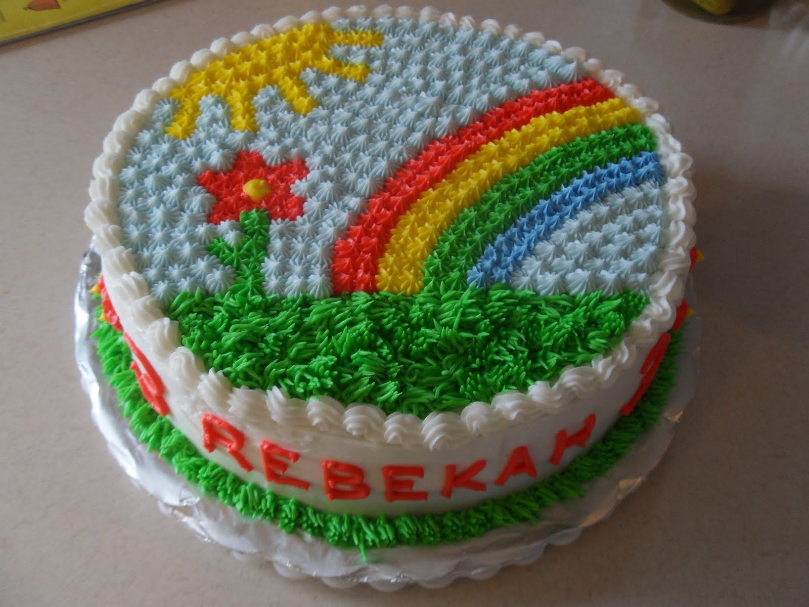 Rainbow Cake Recipe Joy Of Baking: Simple Joy Crafting: Rainbow & Flower Birthday Cake