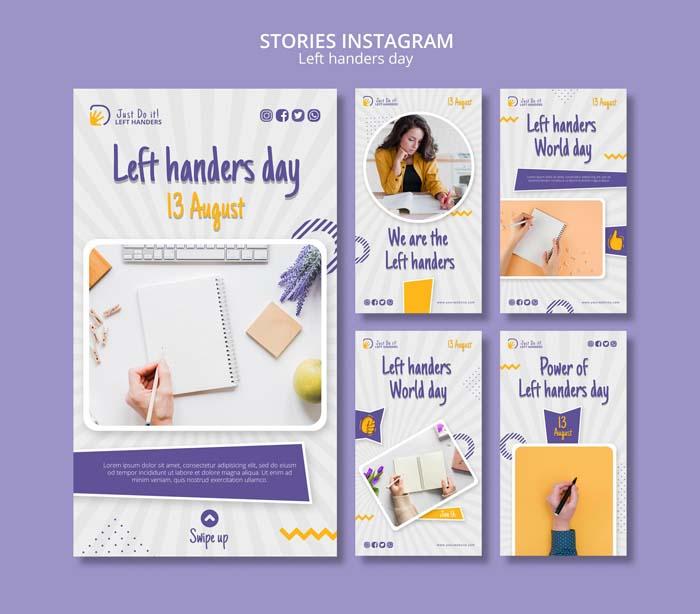 Left Handers Day Instagram Stories