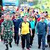 Danrem 142 Tatag Ikut Jalan Santai Peringati HUT Bhayangkara Ke 73