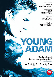 Blue and white DVD cover featuring profile of Ewan McGregor