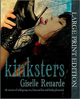cover image of dark-haired woman licking a leather boot