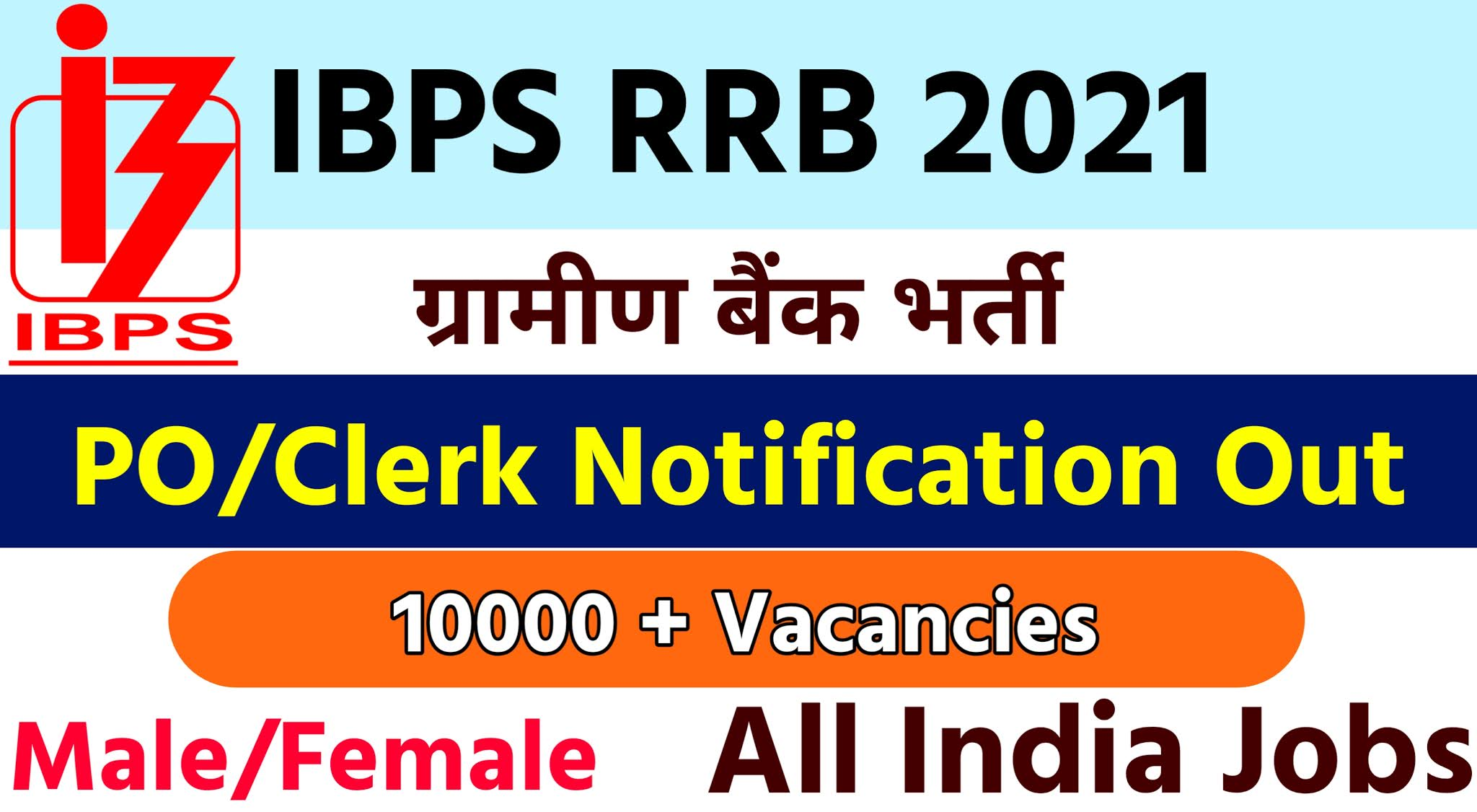 IBPS RRB Notification 2021 Out|Apply Online 10368 PO & Clerk Vacany