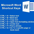 MS WORD SHORTCUTS KEYS