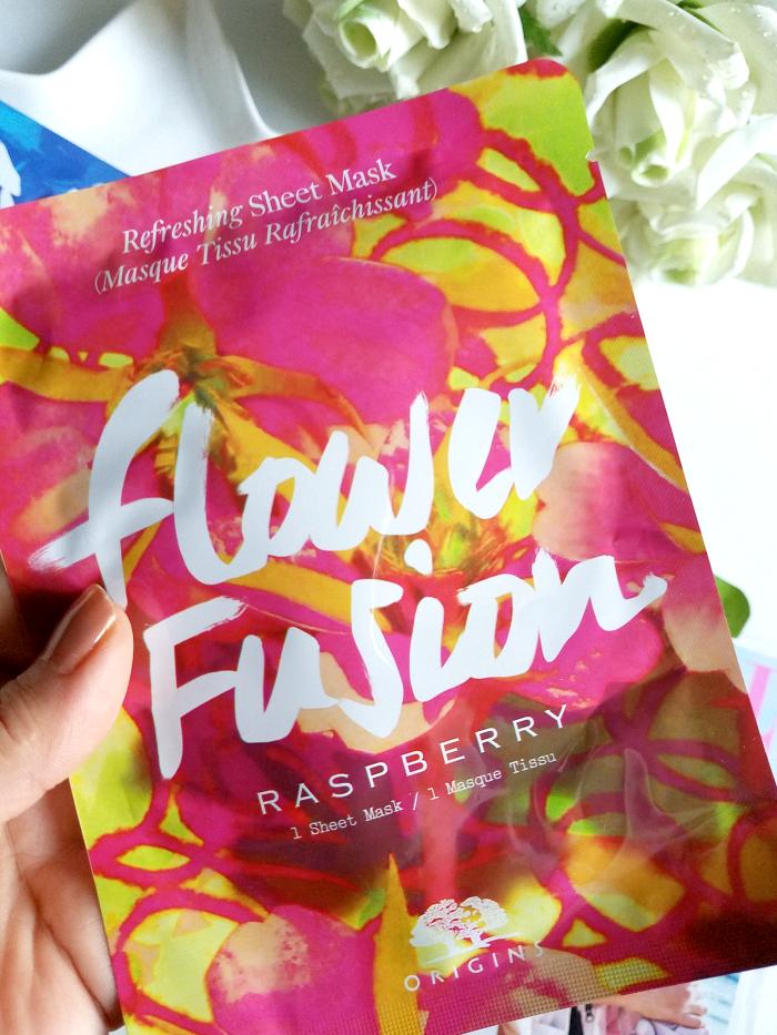 Review: ORIGINS - Flower Fusion Sheet Masks - Refreshing Sheet Mask Raspberry - Madame Keke Luxury Beauty Lifestyle Blog