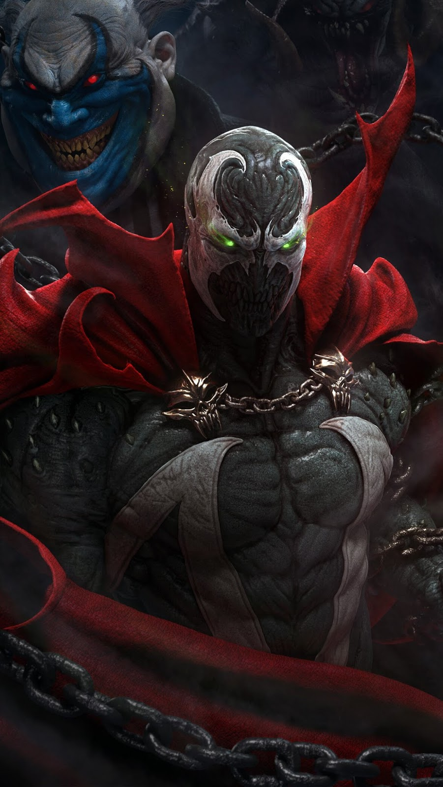 Spawn art to use as phone wallpaper. Spawn is a fictional superhero appearing in a monthly comic book of the same name published by American company Image Comics