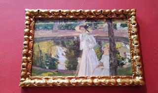 Madrid. Casa-Museo de Sorolla. María en los jardines de La Granja.