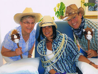Author Deana Driver with Dionne and Graham Warner at one of Dionne's chemo treatments, July 2010