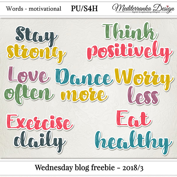WEDNESDAY BLOG FREEBIE - 2018/3