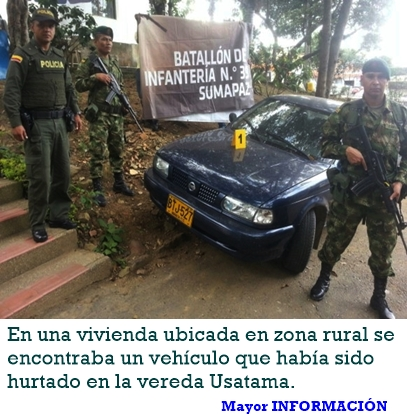 FUSAGASUGÁ: RECUPERADO VEHÍCULO HURTADO E INCAUTADAS TRES ARMAS DE FUEGO